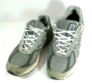 new style e0203 efd02 Details about NEW BALANCE 990 men's size 11 D gray/white lace up athletic  walking shoe GUC