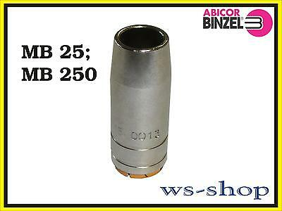 10 x Gasdüsen NW15 konisch MB25 TBI250 Ergolpus25 MIG//MAG Brenner Gasdüse