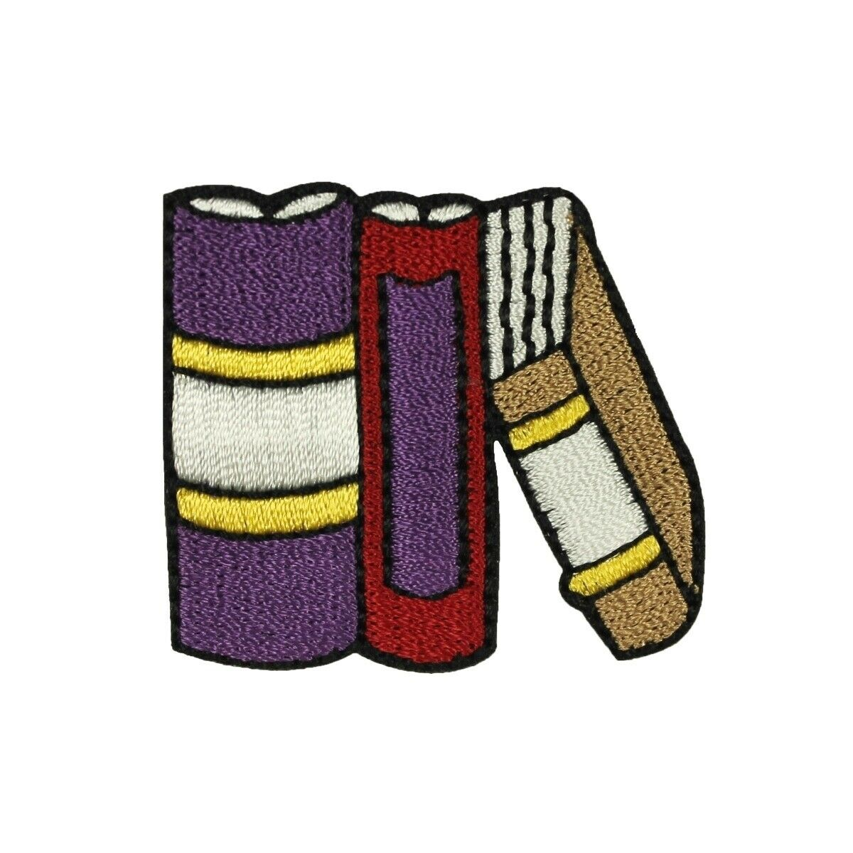 LIBRARY Iron On Patch Reading Books School