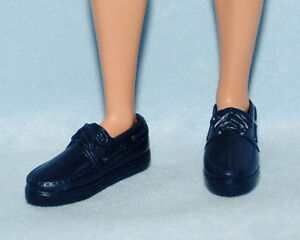 Black KEN Casual Athletic Sporty Tennis Shoes w// White Soles Genuine BARBIE
