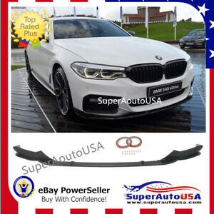 details about fits 17 19 bmw 5 series g30 mp style gloss blk front bumper lip spoiler splitter widebody e39 body kit bmw 5 series g30 black sapphire kyosho