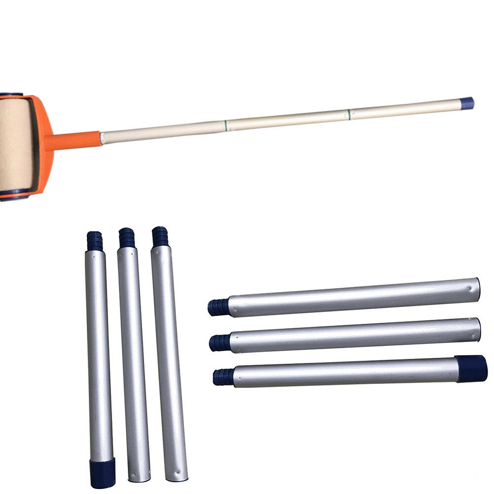 3 PCS Extension Pole Paint Roller Handle Threaded Pole Replacement Aluminum Tool