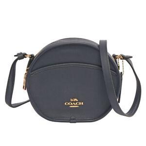 ... handbag 85b75 2e87a  where to buy image is loading coach canteen leather  crossbody midnight navy blue new cf68f d45f3 28794281ab5cc