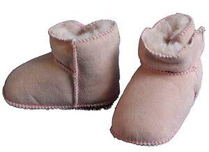 promo code 230f8 4932a Details zu Baby Lammfellschuhe rosa, Baby Fell Boots rosa, echtes Lammfell,  Gr. 16 - 23
