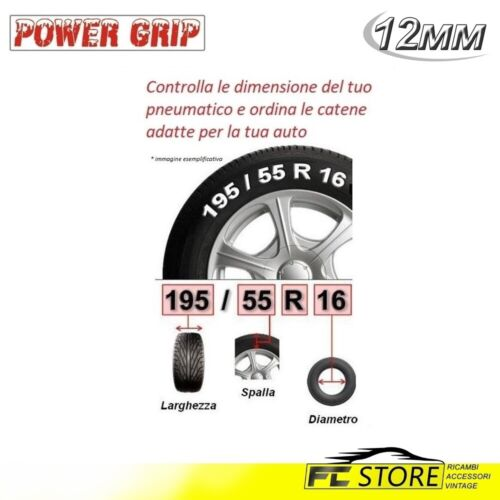 12S250 Catene Neve Power Grip 12mm Suv Omologate Gruppo 250 gomme 8r17.5