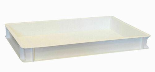 Pizzateigbehälter weiß Teigbehälter Stapelbox Teigbox 60 x 40 x 7cm Gastlando