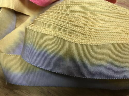 """Vintage 1940/'s Cotton  Rayon 1 1//8/"""" Petersham handdyed Ribbon 1yd Made in France"""