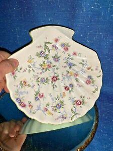 Vintage-Andrea-by-Sadek-CORONA-Scalloped-Clam-Shell-Dish-Bowl-Floral-2-5-8-sj3j