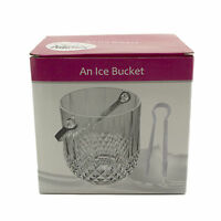 Clear Acrylic Ice Bucket W/tong Plastic Container Beverage Cooler Bpa Free