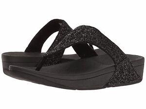 2a3d4995fbd8 Women s Shoes Fitflop Glitterball Toe Post Sandals H25-001 Black ...