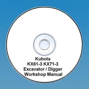 Kubota Kx61-3 7 Kx71 -3 Excavateur/digger-workshop Manual.-r / Digger - Workshop Manual. Fr-fr Afficher Le Titre D'origine Pour AméLiorer La Circulation Sanguine