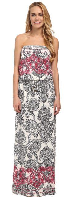 708730ae597 HALE BOB Haute Boheme Tube Top Strapless Maxi White Women s Dress Brand New   259