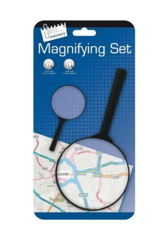 Dual Magnifying Glass Set 2 Magnifying Glass Pocket Home Office Work Magnifier