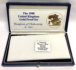 Gold-Sovereign-1988-3-Coin-Box-Set-With-Coa-Only-NO-COINS-included-in-sale