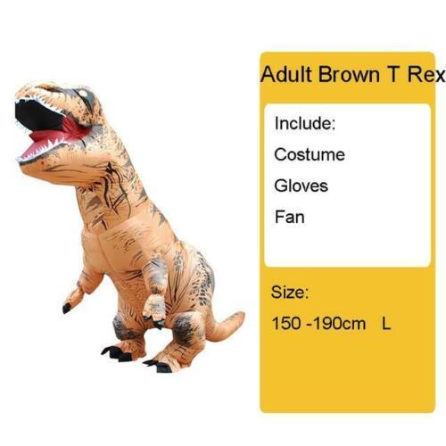 Adult Kids Inflatable Dinosaur Costume T REX women Men Costumes dinosaur Alien H