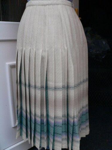 vergine di taglia qualità indossata pura Gonna 10 vintage mai lana reversibile nTaTq6g