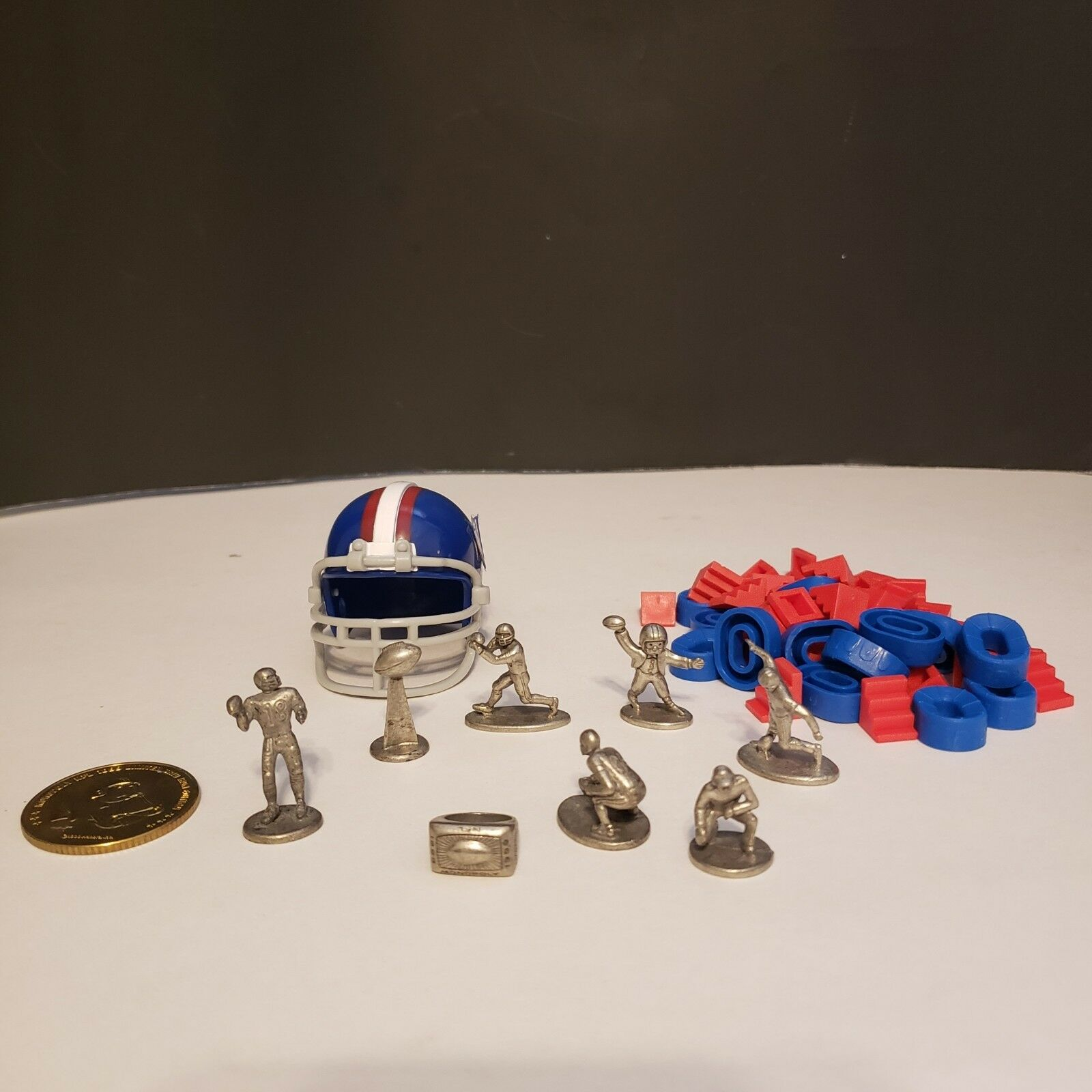 1999 Monopoly NFL Board Pewter Game Edition Pewter Board Token and Replacement Pieces Parts 043c1d