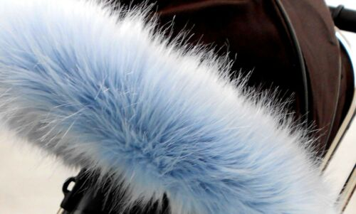 Universal FIT Poussette Landau Capuche en FOURRURE Fit Bugaboo Hood livraison rapide