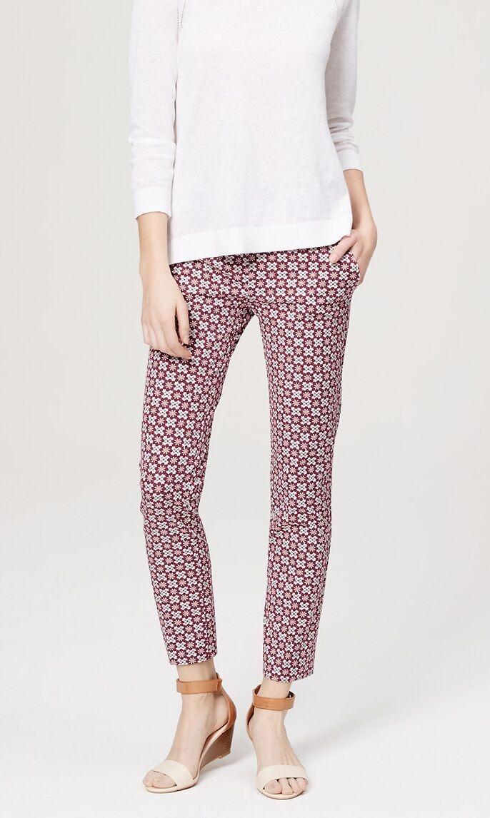 Ann Taylor LOFT Petalwork Essential Skinny Ankle Pants in Marisa Fit Various Sz