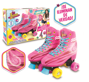 Soy-Luna-Roller-Skates-Light-Up-Disney-Original-TV-Series-2017-Size-30-31-13-21
