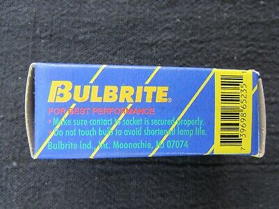 BULBRITE Q20GY6//120 LAMP 120 VOLTS 20W Halogen Bulb