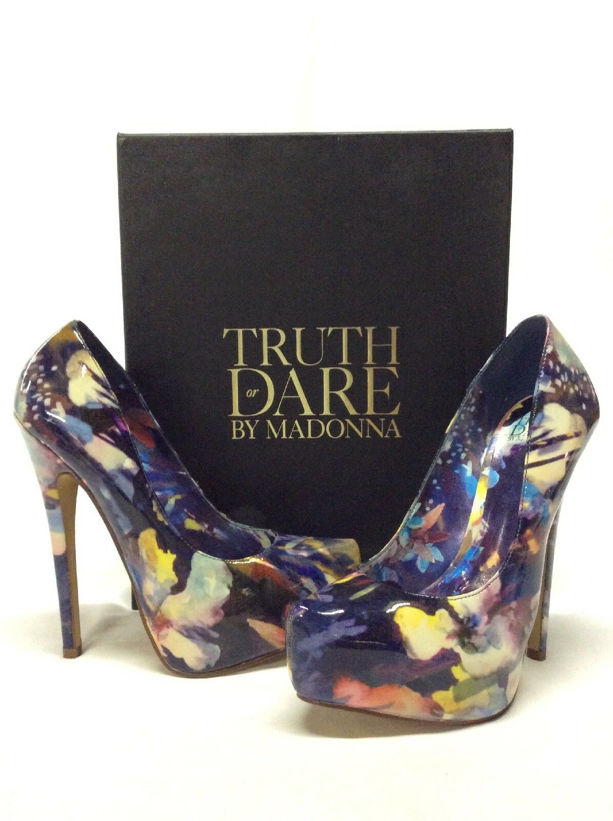 Ultimo 2018 Truth Or Dare By Madonna Platform Heels Pumps, Navy Dimensione Dimensione Dimensione 5.5  nessun minimo