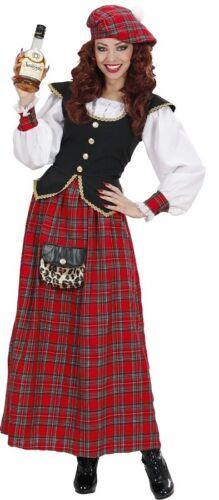 XL Scottish Lass Ladies Scot St Andrews Scotland Tartan Fancy Dress Costume S