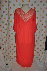 Detalles De Rojo Largo Encaje Sexy De Noche Vestido Sears De Nylon Para Mujer Medio 3234 Vintage Ver Título Original