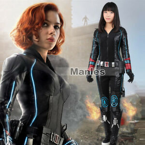 Details About Avengers 2 Age Of Ultron Costume Black Widow Cosplay Natasha Romanoff Outfit Hot