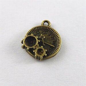 Weinlese-Bronze-Legierung-Mechanische-Uhr-Schmuck-Handwerk-Fittings-Kunst-40X