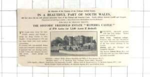 Details about 1935 Historic Estate Ruperra Castle For Sale South Wales