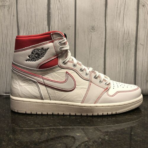 2019 Nike Air Jordan 1 Retro High OG SZ 12 13 Sail Phantom Red Black 555088-160