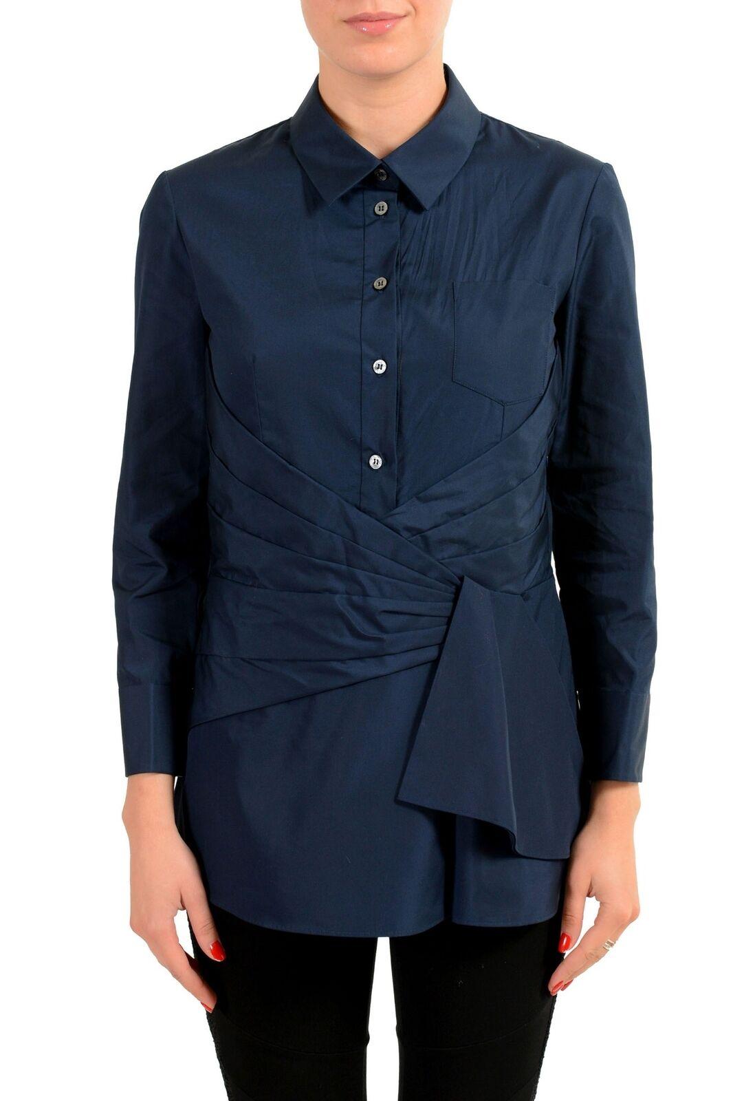 Viktor & Rolf Navy Long Sleeve Woherren Button Front Shirt Sz XS XL