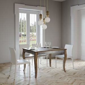 Dettagli su Tavolo allungabile OLANDA IRON 120 fino a 224 salotto soggiorno  cucina moderno