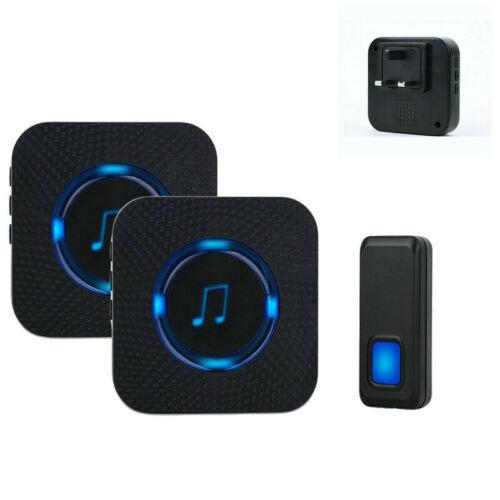 Wireless Doorbell Music Home IP55 DIY Door Bell Chime Plug In Receivers Kit