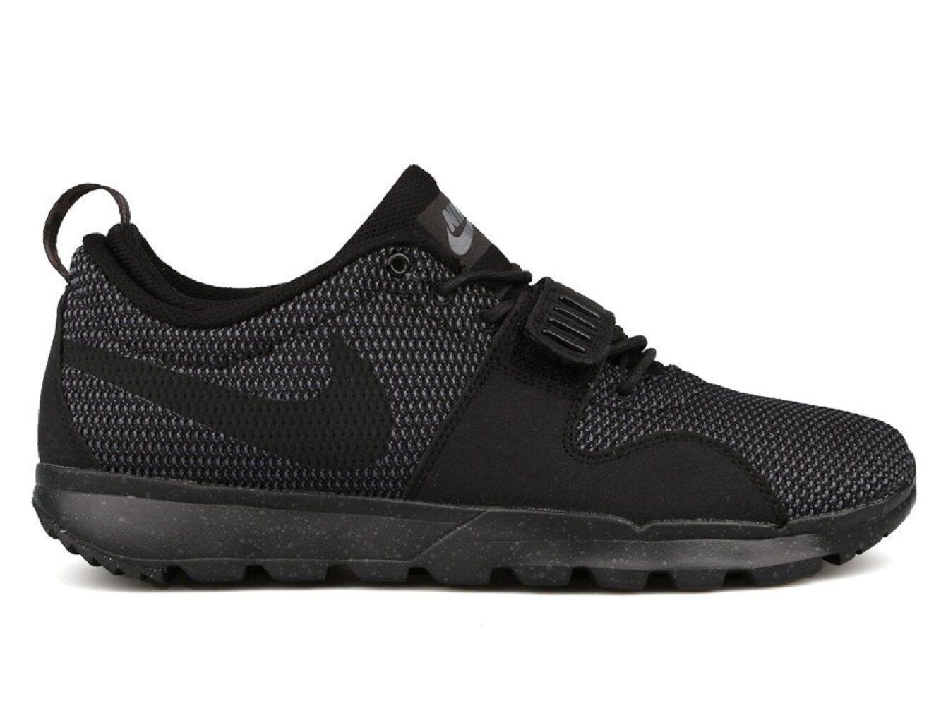 32d308b1ee3 Nike TRAINERENDOR Black Dark Dark Dark Grey Athletic Skate 616575-002 (501)  Men s
