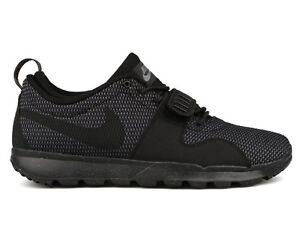 reputable site 86da9 18cae Image is loading Nike-TRAINERENDOR-Black-Dark-Grey-Athletic-Skate-616575-
