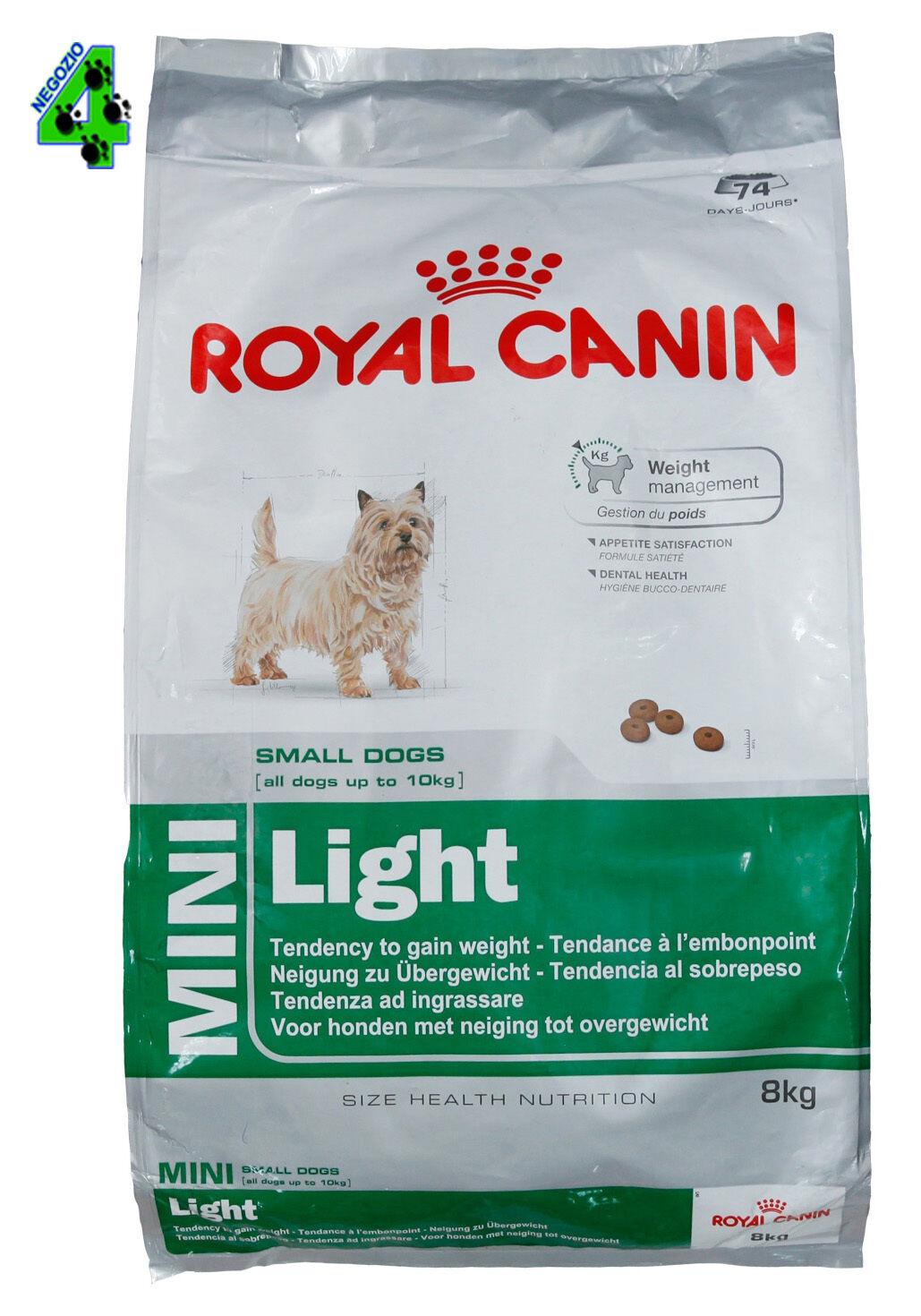 ROYAL CANIN MINI light 8 KG CANE CROCCHETTE CANI DI TAGLIA PICCOLA obesi