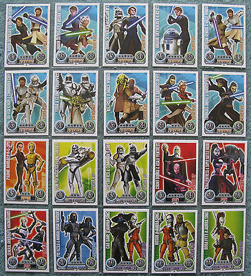 Star Wars Force Attax Series 2 Cards 193-222 Star Cards /& Power Ups