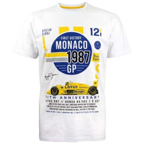 AYRTON SENNA COLLEZIONE TEAM LOTUS T-shirt 99T MONACO 1987 Bianco