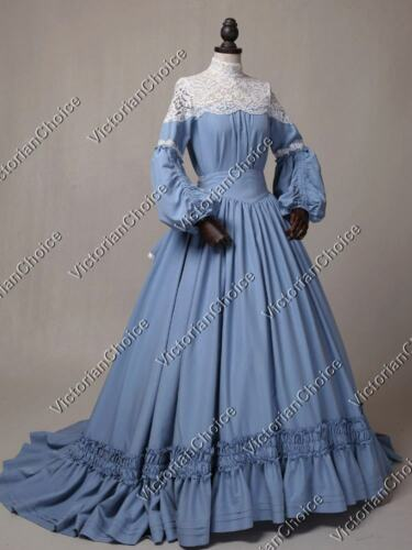 Old Fashioned Dresses | Old Dress Styles 1860 Victorian Civil War Vintage Wedding Dress with Train Theater Prom Clothing N 388 $225.00 AT vintagedancer.com