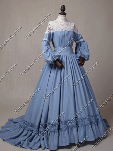 Victorian Plus Size Dresses | Edwardian Clothing, Costumes 1860 Victorian Civil War Vintage Wedding Dress with Train Theater Prom Clothing N 388 $225.00 AT vintagedancer.com