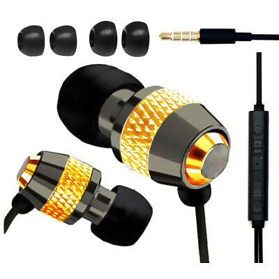 IN EAR EARPHONES HEADPHONE METAL NOISE ISOLATING EARPHONE FOR MP3 4 5 GOLD
