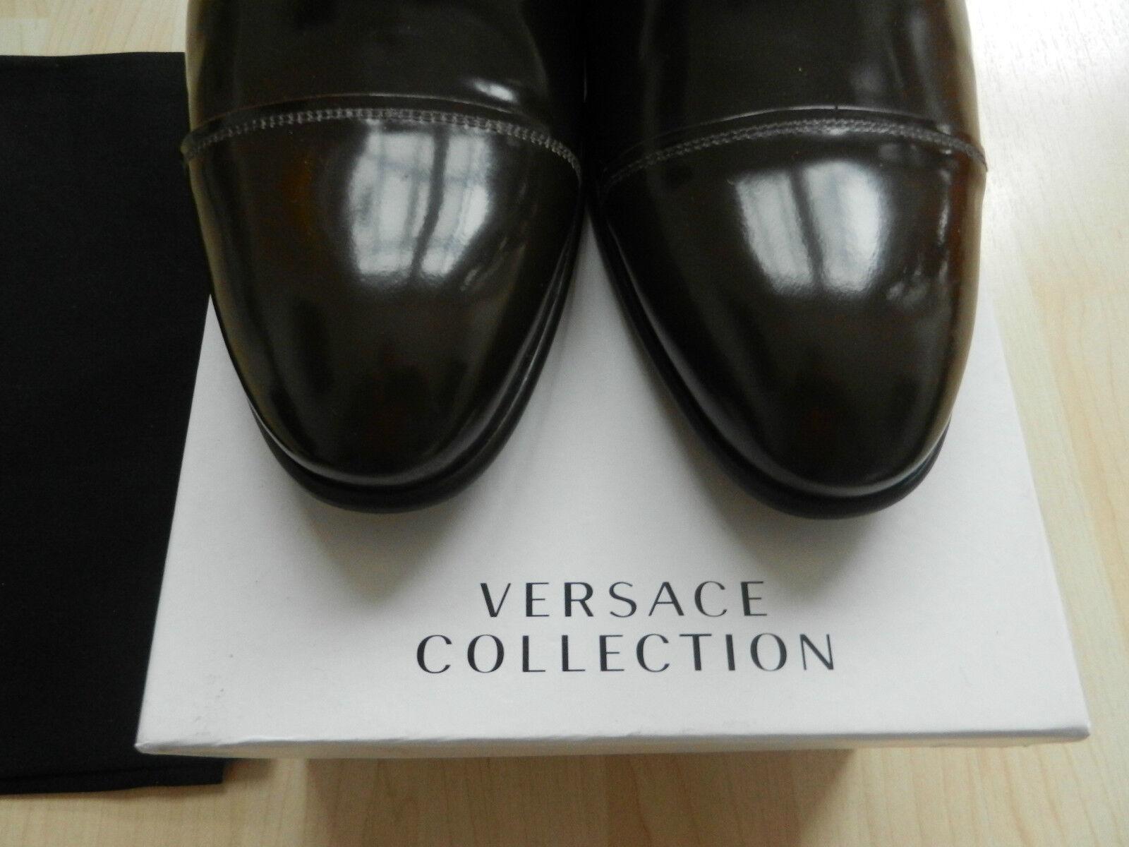 Versace Herrenhalbschuh Gr. 43 braun Neu  Originalware keine B-Ware Neu braun 50% unter NP 25f924