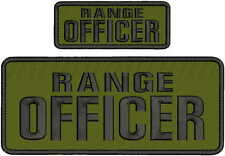 RANGE SAFETY OFFICER embroidery patches 4x10 And 2x5  hook on back od/blacl