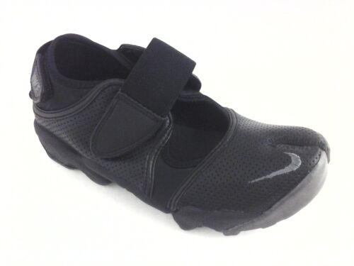 NIKE AIR RIFT Split Toe Shoes Black Leather Mary J