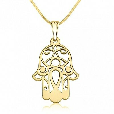 24K Gold Plated Hamsa Hand (Kabbalah) Necklace