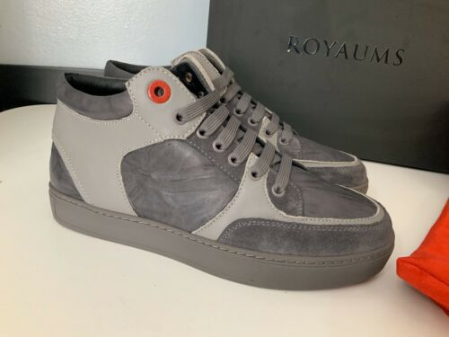 Uk 5 Trainers Size 39 Killian Marion Grey Leather Royaums NEW Mens Sneakers