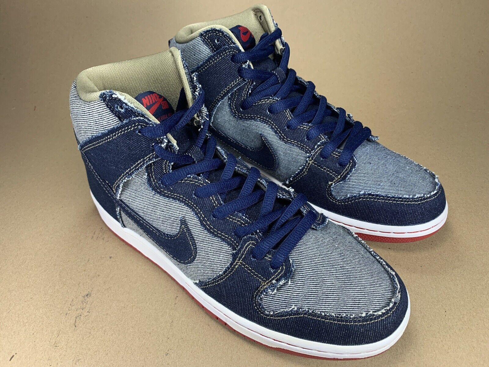 Nike SB Dunk High TRD QS Reese Forbes Dark bluee Denim Red 881758 441 Size 10.5