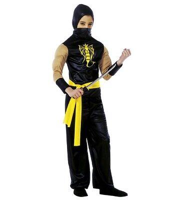 Power Ninja Faschingsköstüm Costume, Ragazzi, Dimensioni 140 Cm, 8-10 Anni